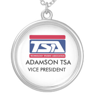 VICE PRESIDENT NECKLESS ROUND PENDANT NECKLACE
