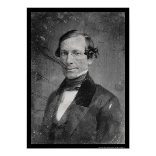 Vice President William R. King Daguerreotype 1848 Poster