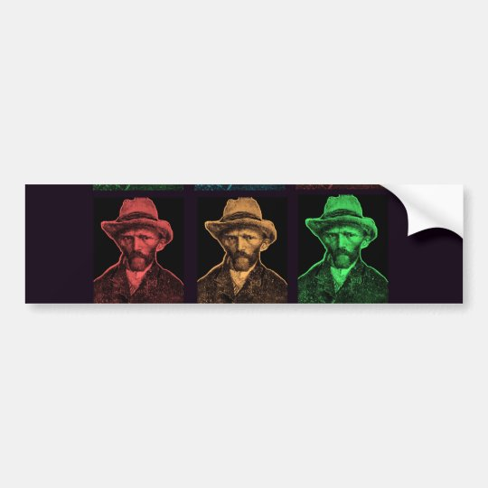 Vicent Van Gogh Collage Bumper Sticker