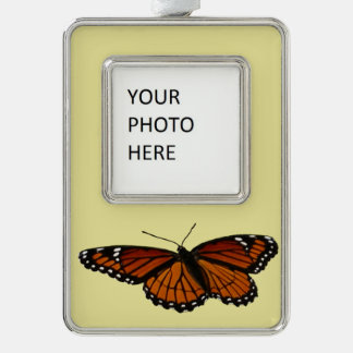 Viceroy Butterfly Beautiful Nature Photography Silver Plated Framed Ornament