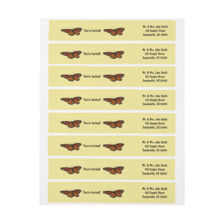 Viceroy Butterfly Beautiful Nature Photography Wrap Around Label