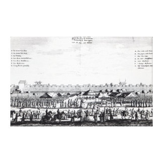 Viceroy's Feast outside the walls of Kanton Canvas Print