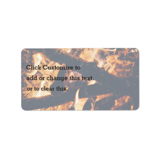 vicinity flaming campfire address label