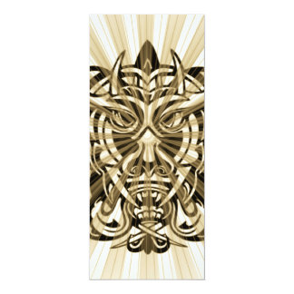 Vicious Tribal Mask 008 4x9.25 Paper Invitation Card