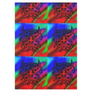 Vicious Tribal Mask Black rainbow 003 Tablecloth