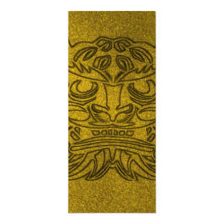 Vicious Tribal Mask golden glimmer 004 10 Cm X 24 Cm Invitation Card