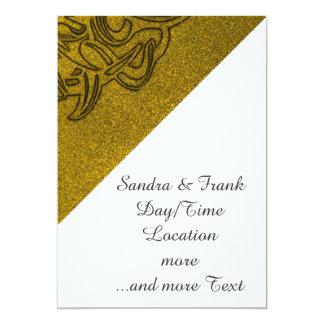 Vicious Tribal Mask golden glimmer 004 13 Cm X 18 Cm Invitation Card
