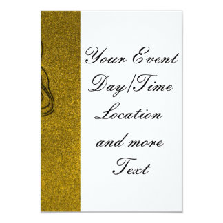 Vicious Tribal Mask golden glimmer 004 9 Cm X 13 Cm Invitation Card
