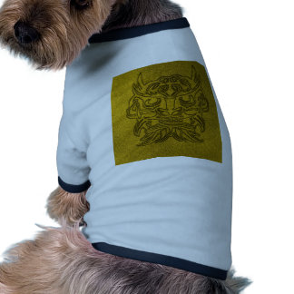 Vicious Tribal Mask, golden glimmer 004 Dog Tee