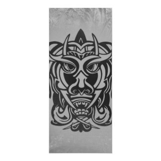 Vicious Tribal Mask silver frosty 007 4x9.25 Paper Invitation Card