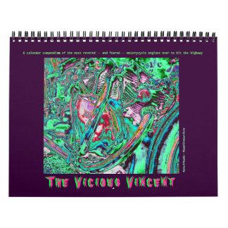 Vicious Vincent Motorcycle Engine 2014 Calendar