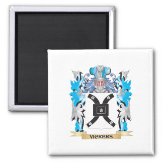 Vickers Coat of Arms - Family Crest Square Magnet
