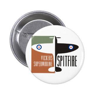 vickers supermarine spitfire 6 cm round badge