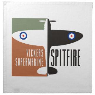 vickers supermarine spitfire napkin