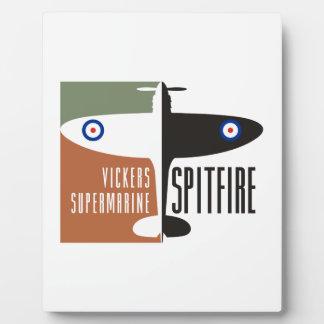 vickers supermarine spitfire plaque