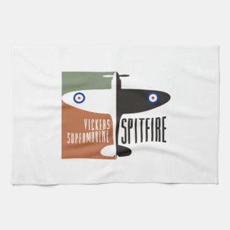 vickers supermarine spitfire tea towel