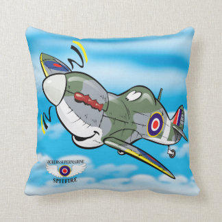 Vickers Supermarine Spitfire Throw Pillow