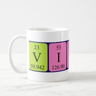 Vicky periodic table name mug