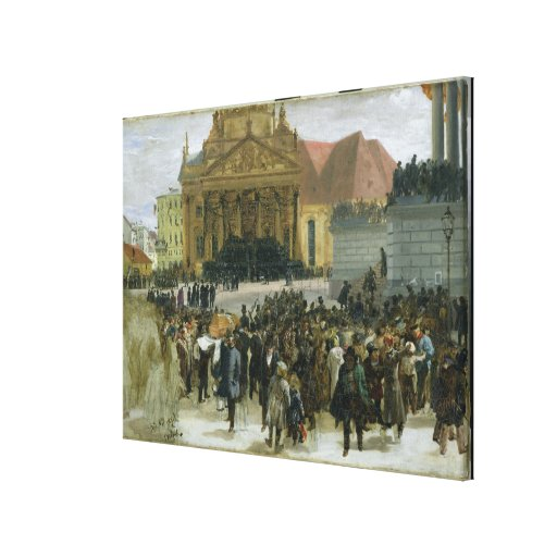 Victims of the March Revolution Stretched Canvas Print