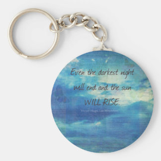 Victor Hugo, Les Miserables quote  inspirational Basic Round Button Key Ring