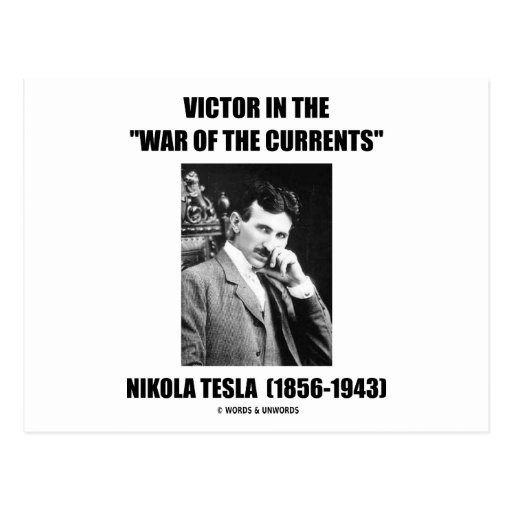 """Victor In the """"War Of The Currents"""" Postcards"""