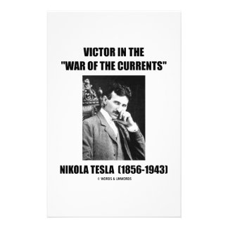 "Victor In the ""War Of The Currents"" Personalized Stationery"
