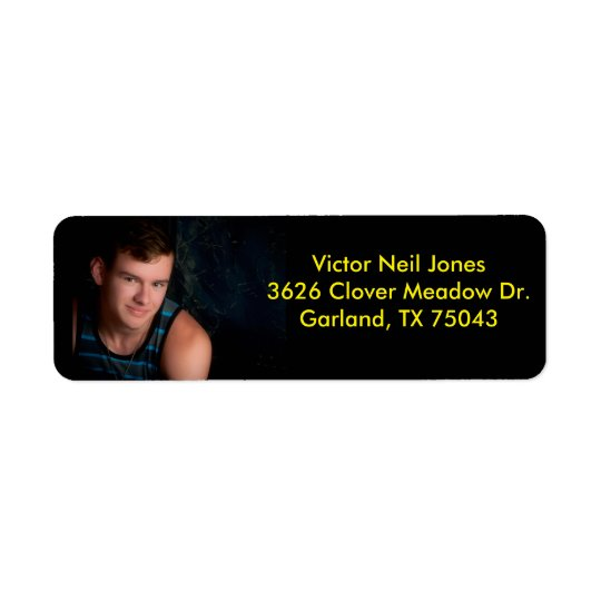 Victor Neil Jones return address label