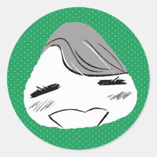 Victor Onigiri Round Sticker