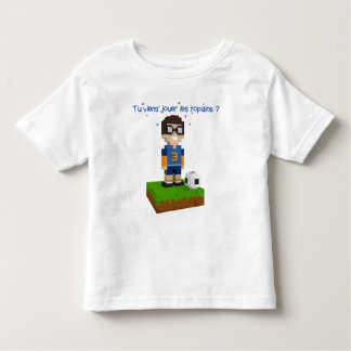 Victor plays football toddler T-Shirt