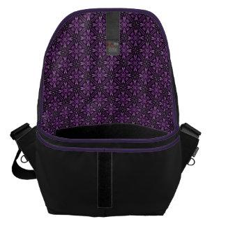 Victorain Purple Fractal Pattern Courier Bag