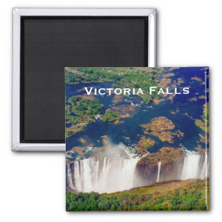 victoria aerial falls square magnet