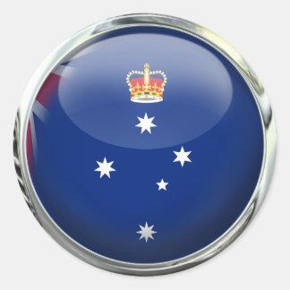 Victoria Australia State Flag Glass Ball Classic Round Sticker