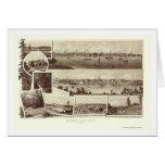 Victoria, BC, Canada Panoramic Map - 1884 Card
