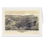 Victoria, BC, Canada Panoramic Map - 1889 Greeting Card
