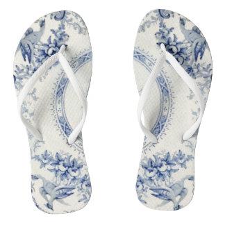 Victoria Blue Kick's Off Her Heels Flip Flops