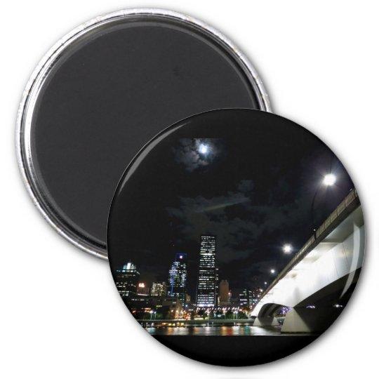Victoria Bridge in Brisbane 6 Cm Round Magnet