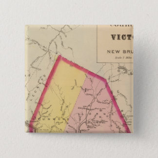 Victoria Co, NB 15 Cm Square Badge