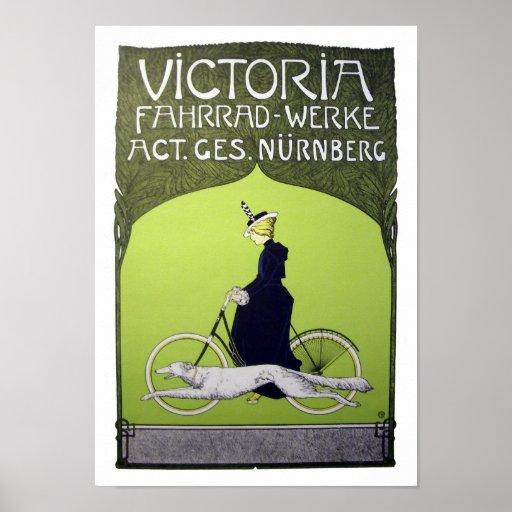 Victoria Fahrrad-Werke Vintage Bicycle Print
