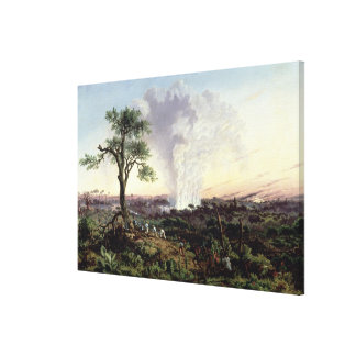 Victoria Falls at Sunrise, with 'The Smoke', or 'S Canvas Print