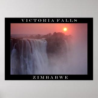 Victoria Falls Sunrise Poster