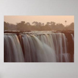Victoria Falls Surise Poster