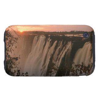Victoria Falls with sun on horizon, Victoria iPhone 3 Tough Cases