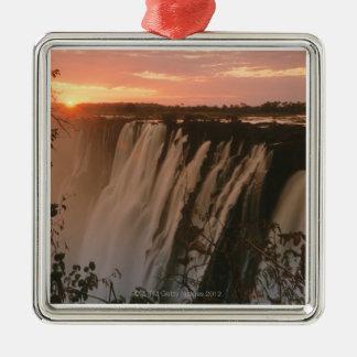Victoria Falls with sun on horizon, Victoria Christmas Ornament