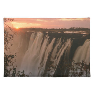 Victoria Falls with sun on horizon, Victoria Placemats