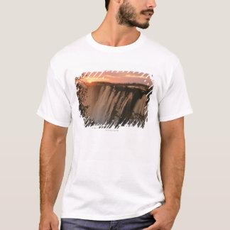 Victoria Falls with sun on horizon, Victoria T-Shirt