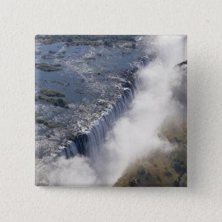Victoria Falls, Zambesi River, Zambia - 15 Cm Square Badge