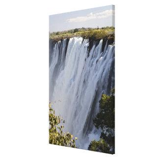 Victoria Falls, Zambesi River, Zambia. 2 Canvas Print