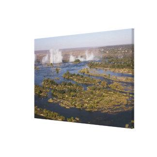 Victoria Falls, Zambesi River, Zambia - Zimbabwe Canvas Print