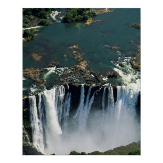Victoria Falls, Zambia to Zimbabwe border. The Poster