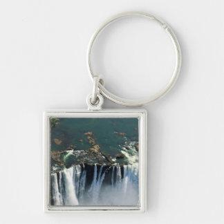 Victoria Falls, Zambia to Zimbabwe border. The Silver-Colored Square Key Ring